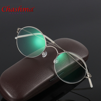 Chashma Brand Titanium Alloy Eyeglasses Retro Women Light Optical Eye Glasses Frames Round Men Eyeglasses Vintage Glass