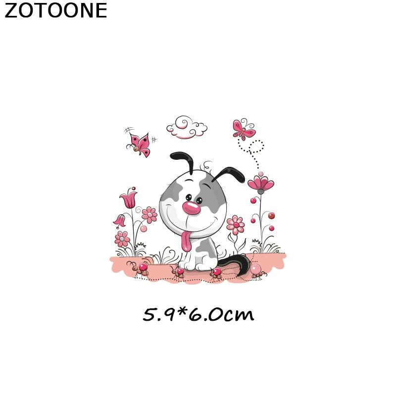 ZOTOONE милые Мультяшные нашивки в виде животных теплопередача железа на патч для футболки детский подарок DIY Одежда Наклейки теплопередача G - Цвет: 1020