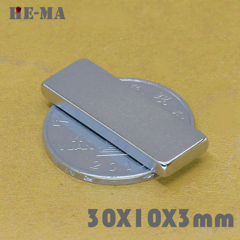 5Pcs 30x10x3 Neodymium Magnet Permanent N35 NdFeB Super Strong Powerful Magnetic Magnets HE MA Disc 30mmx10mmx3mm in Magnetic Materials from Home Improvement
