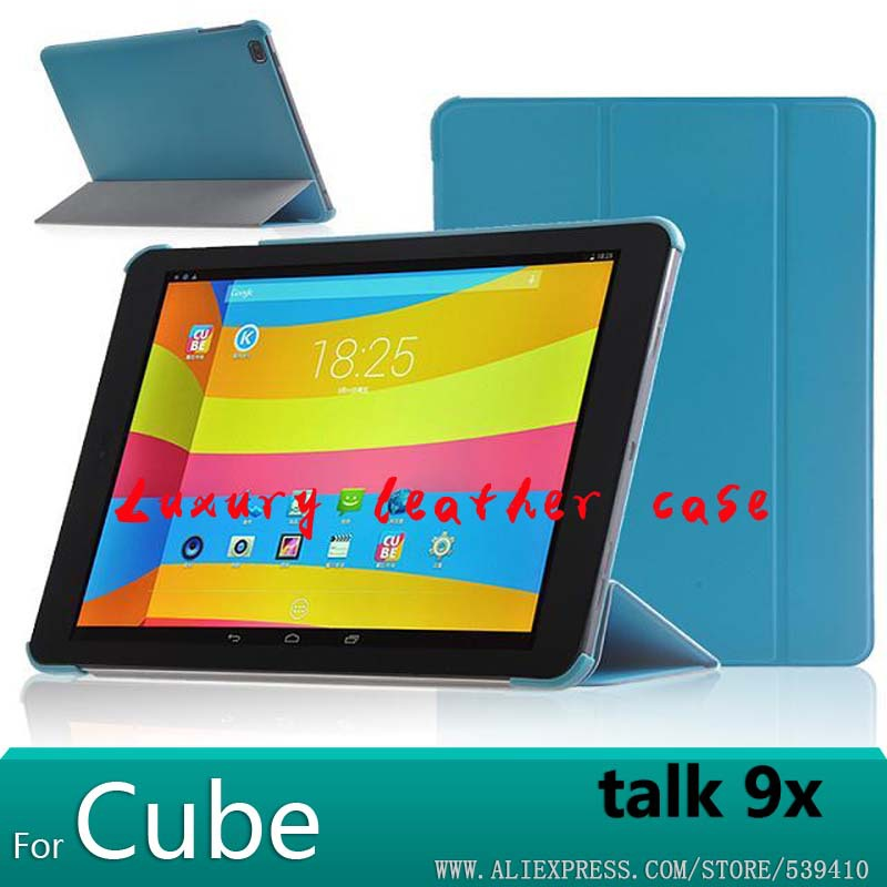 For Cube Talk 9X case Smart stand Leather Case cover For Cube talk 9X U65GT 9.7 inch Tablet funda cover case +screen protectors домино cube 65 левый
