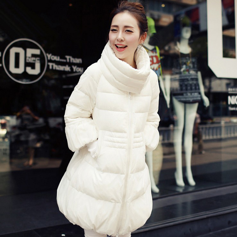 Pregnant women winter jacket down cotton padded A line loose long thicken pregnancy outerwear parkas warm