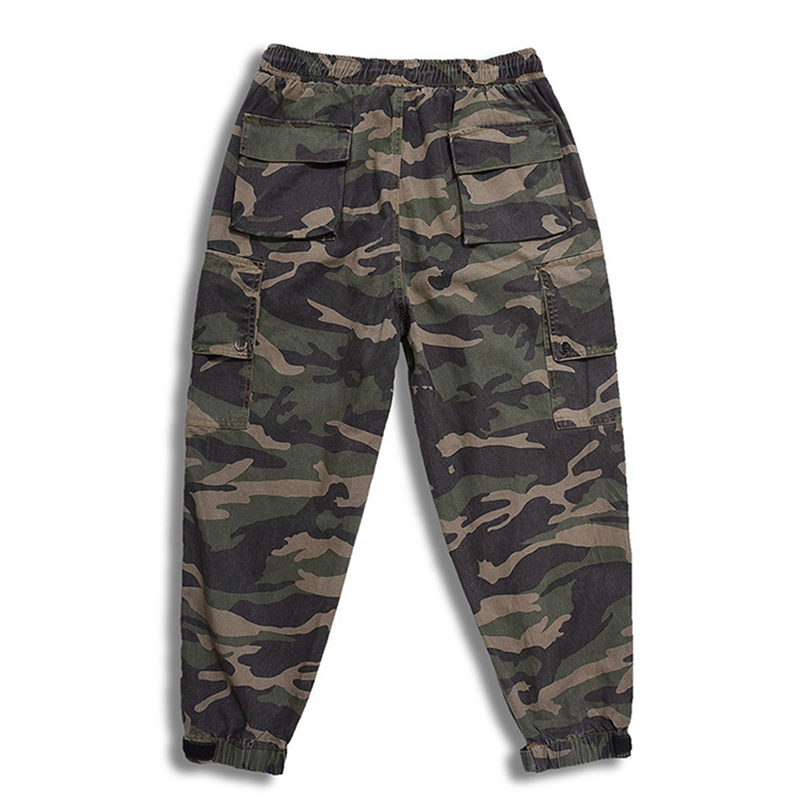 Image 4 - spring men cargo Camouflage pants pockets high streetwear plus 