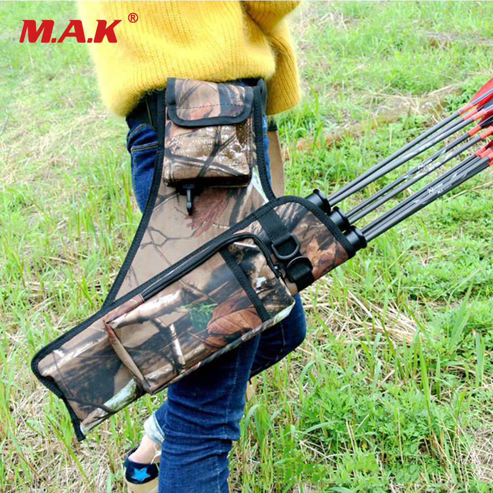 3 Tubes Hunting Archery Quiver Compound Bow Arrow Quiver Or Recurve Bow And Arrow Bag In Black Camo Color For Hunting Arrow Case Nourishing The Kidneys Relieving Rheumatism