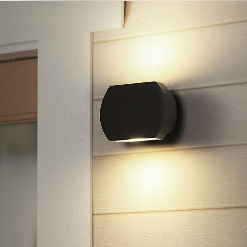 Современный светодиодный настенный светильник для крыльца водонепроницаемый IP65 для ванной комнаты садовое украшение из алюминия уличное