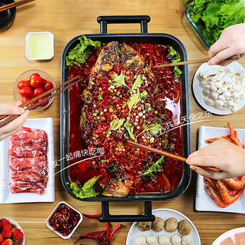 Multi-functional Electric Frying Pan Electric Frying Pan Cake Frying and Grilling Machine Non-stick Pan 7.5L Large Capacity