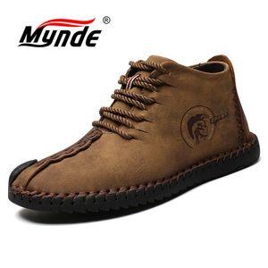 Mynde/мужские зимние ботинки на меху, теплые зимние ботинки 2018, мужские зимние ботинки, Рабочая обувь, мужская обувь, модные ботильоны на резин...