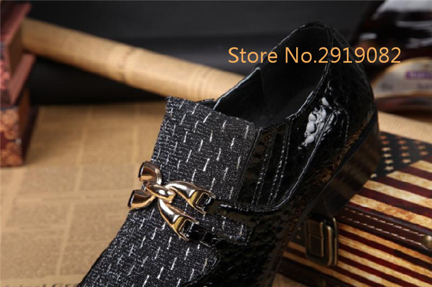 2017 New Arrival Metal Buckle Men Flats Metal Pointed Toe Casual Shoes Spring Autumn Slip-On Bars Nightclub Shoes Hairstylist