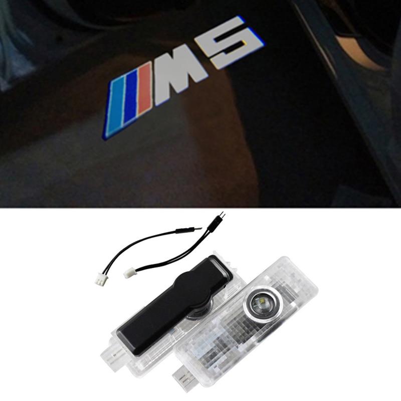 LED Car Door Courtesy Laser Projector Logo Ghost Shadow Light for BMW M5 E60 E63 E90 E92 E93 X1 X3 X5 X6 M3 M5 M6 F30 new 2pcs pair high power led ghost shadow light logo projector vehicle door courtesy laser for bmw brand car styling logo design