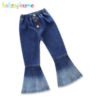Babzapleume, 2-6 años/2018, pantalones de primavera y otoño para niñas, pantalones vaqueros para niños pequeños, pantalones vaqueros de corte a la moda para bebés, pantalones BC1476-1 para niños