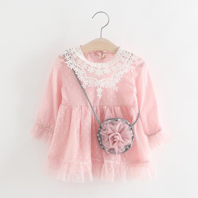 2017 Nueva primavera ropa de babys de la muchacha al por menor vestido de bola niños niños bebés niñas vestidos