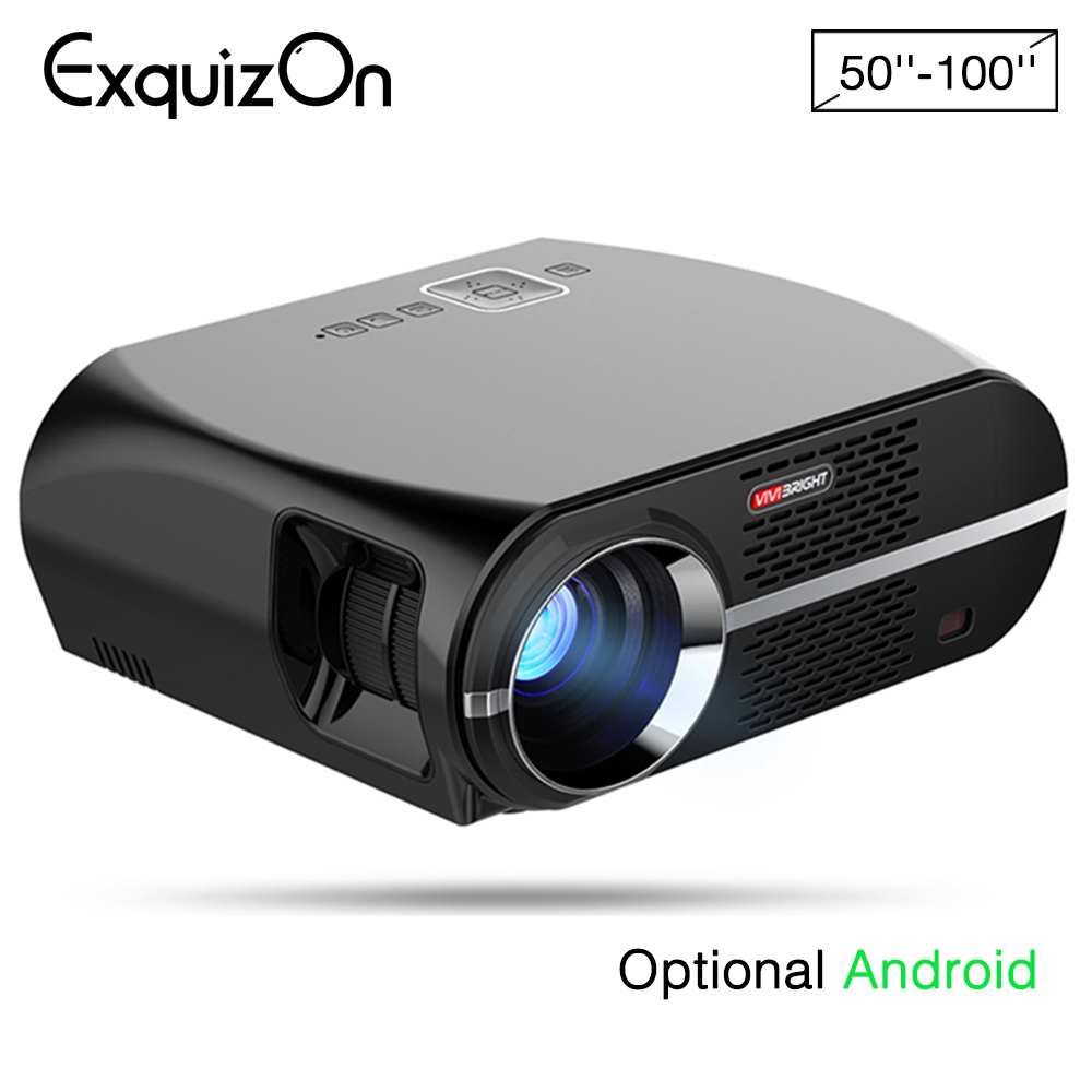 Led Projector 3500 Lumens Beamer 1280 800 Lcd Projector Tv: Aliexpress.com : Buy Exquizon GP100 Projector Support Full