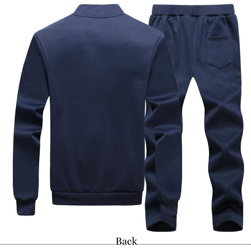 Dont mention the past Stand Collar Men Tracksuit 2PCS Cotton Autumn Spring Streetwear Gyms Sportswear Jogger Suit