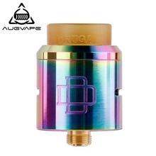 цена Augvape Druga RDA Tank 24 mm Diameter Electronic Cigarette Atomizer 24K Gold Plated Deck 810 Drip tip Vape Tank RDA Atomizer онлайн в 2017 году