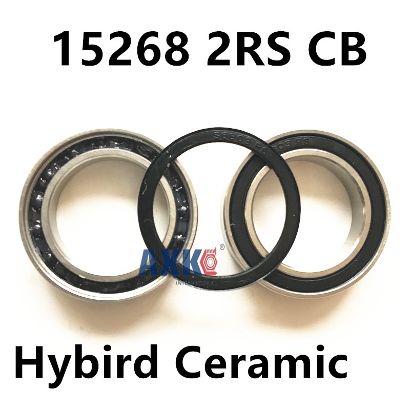 Free shipping 15268-2RS hybrid ceramic ball bearing 15x26x8mm 15268 2RS CB  bike wheels bottom bracket repair bearing 15267 2rs 15 26 7mm 15267rs si3n4 hybrid ceramic wheel hub bearing