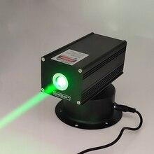 Oxlasers 532 نانومتر 200mW 12 فولت عالية الطاقة رئيس تتحرك وحدة الليزر الأخضر شعاع واسع DJ المرحلة ضوء طارد الطيور