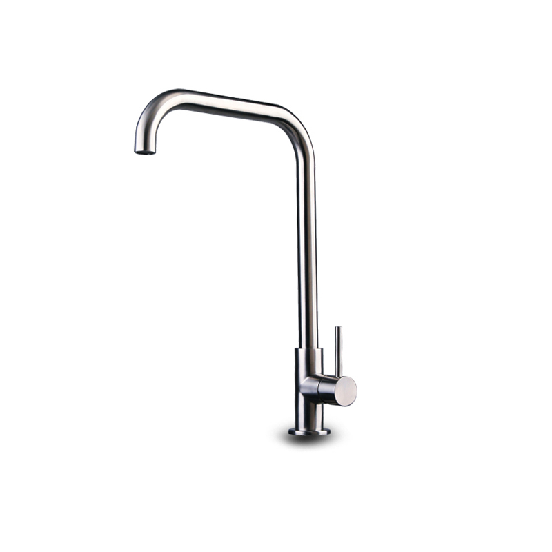 Hot sales new design classic 304 stainless steel faucet with brushed finish kitchen faucets brushed faucet UPC deck mounted