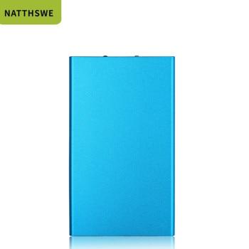 NATTHSWE carcasa de aluminio banco de energía 8000mAh Dual USB teléfono móvil cargador portátil Powerbank batería externa de respaldo