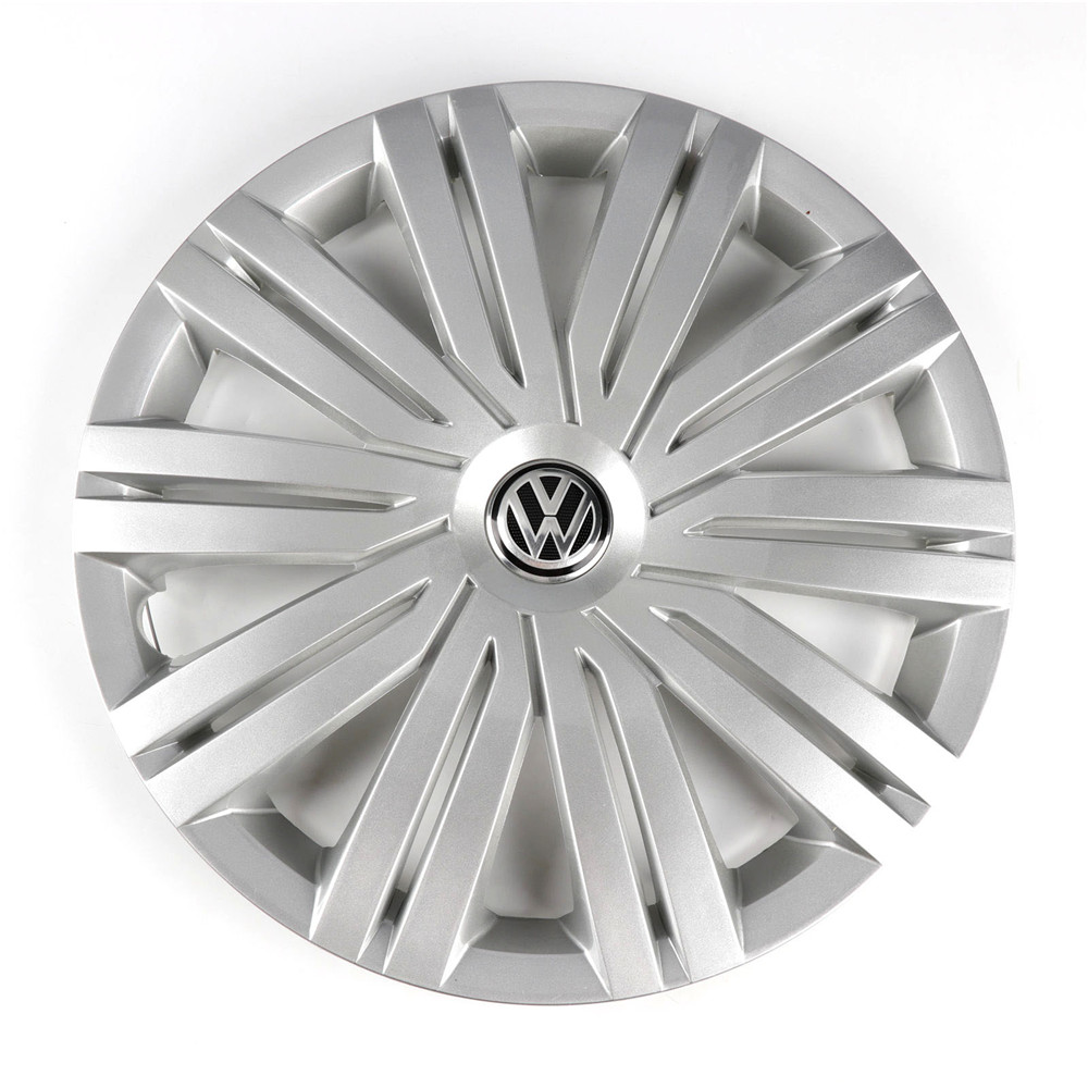 Oem chrome 415mm 41.5cm roda centro tampa hub capa logotipo emblema substituição para vw volkswagen polo 2017 6rd 601 147 h
