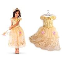 Belle Dress For Kids Costume Rapunzel Party Wedding Dress Costume Kids Girls Princess Dress Belle Sleeping