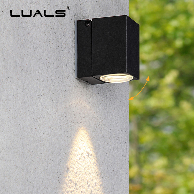 Outdoor Waterproof Wall Lamp Garden Lamps Angle Adjustable Light Luxury Home LED Lighting Creativity
