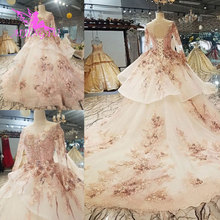 AIJINGYU Muslim Wedding Dresses Asian Gowns Long Train Cathedral 2018 The  Gown Shop Wedding Dress Collection e76b871103a6
