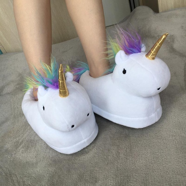 Unicorn Glowing Soft Toy and Slippers