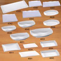 A5 de melamina porcelana-como vajilla Rectanlge de restaurante Dish plato de pescado de melamina de Dinnereare de la placa de la cena de comer