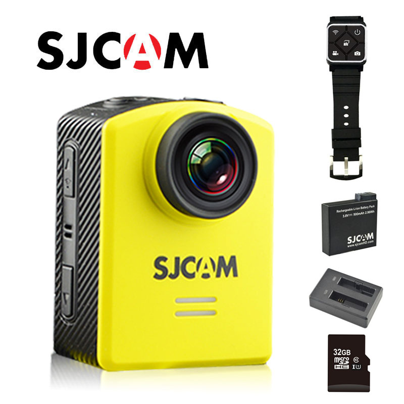 Free Shipping!! Original SJCAM M20 Wifi Gyro Action Helmet Sports DV Camera +Dual Charger + Extra 1pcs Battery+32GB SD Card free shipping original sjcam m10 wifi full hd sport action camera extra 1pcs battery battery charger 32gb class10 sd card