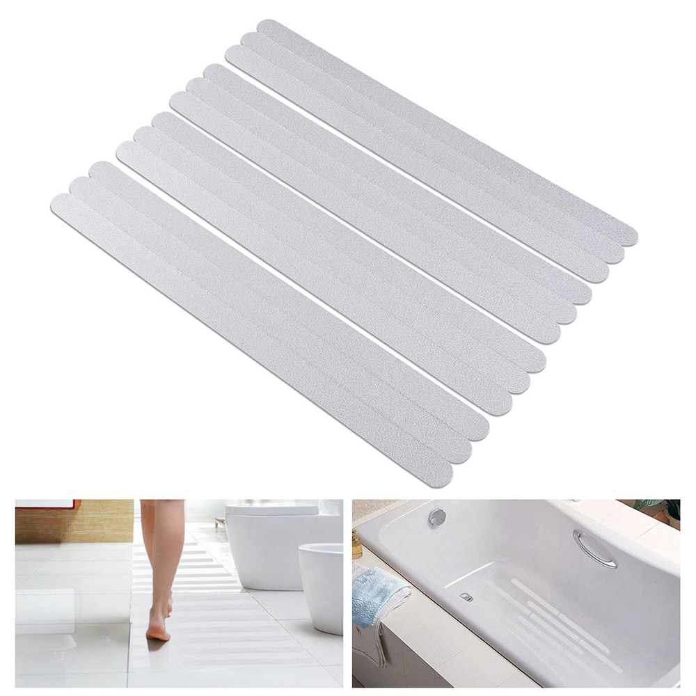 12Pcs/Set Furniture Accessories Non-Slip Bath Grip Stickers Bathroom PET Rubber Strip Sticker Tape Flooring Waterproof PEVA
