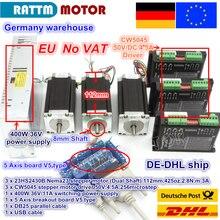 ЕС /Бесплатный НДС 3 оси Nema23 425Oz-in двойной вал шаговый двигатель+ 256 микростеп драйвер ЧПУ гравировальный станок