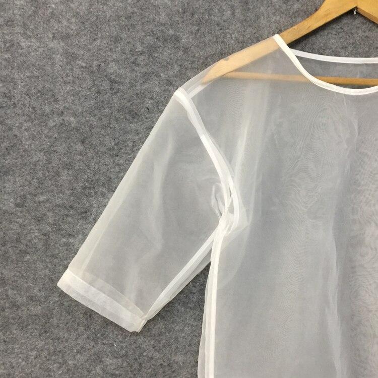 através transparente camisa clara gótico harajuku alta rua trajes sexy clube barra