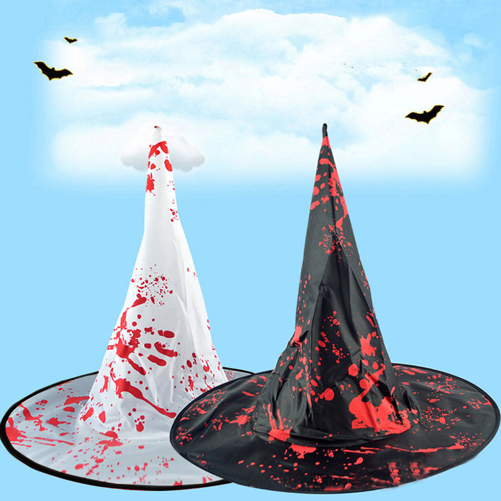 Fashion Adult Womens Mens Witch Hat For Halloween Costume Accessory Fluff Solid Cap Fedoras casquette кепка Z5
