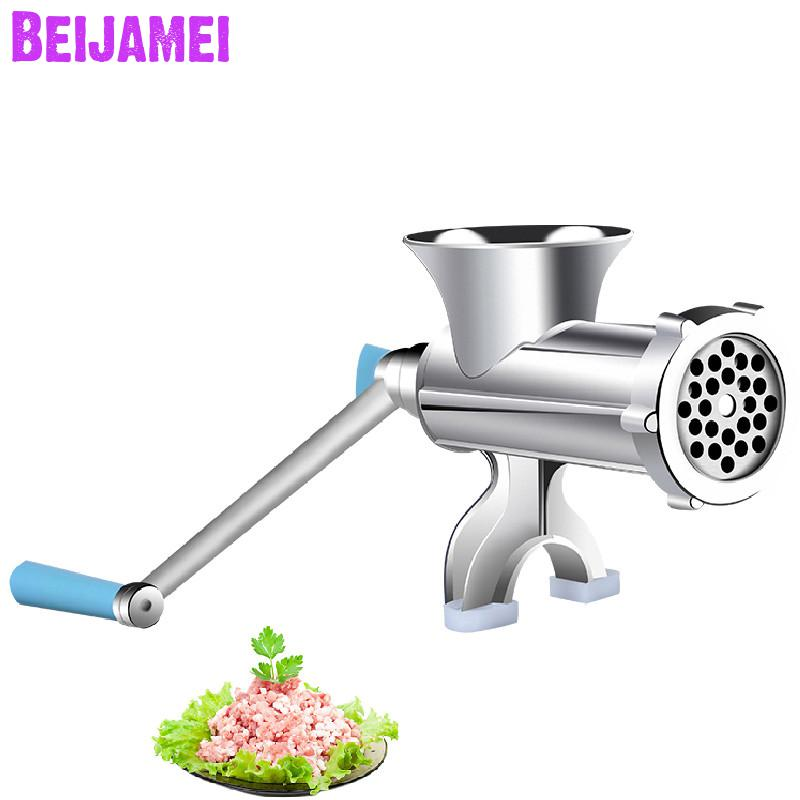 Beijamei manual home meat mincer hand sausage maker multifunctional meat grinder grinding machine for saleBeijamei manual home meat mincer hand sausage maker multifunctional meat grinder grinding machine for sale