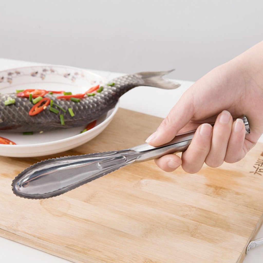 Pelle di pesce Bilancia Raschietto Pulitore Pelapatate In Acciaio Inox Bilancia r di Rimozione Spazzola di Pulizia Cucina Gadget Da Cucina Preparazione Pesce, Utensili E Accessori