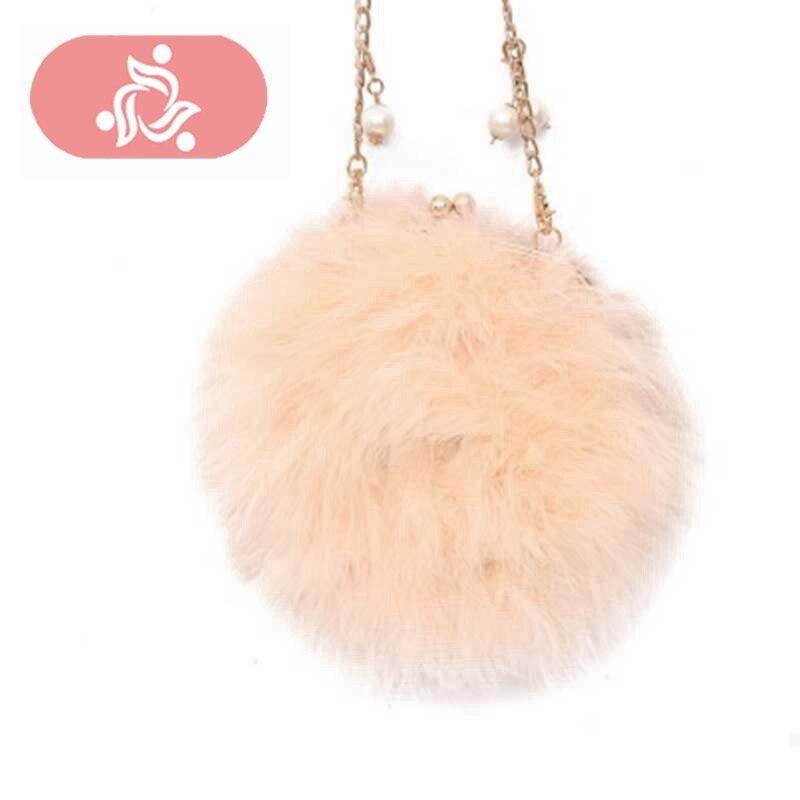 Sac Faux Fur Women Fur Bags Famous Brand Women Clutches Ladies Evening Clutch Purse Fashion Ostrich Feather Hand Bag Luxurious