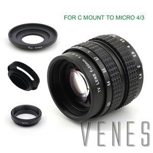 Image 1 - Venes 50mm f/1.4 CC TV F1.4 Lens for Nikon 1 M4/3 for Pentax Q Nex for Fuji FX EOS M A6300A5100 A6000 A5000 A3000 OM DE M10 II