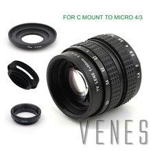 Venes 50mm f/1.4 CC TV F1.4 nikon için lens 1 M4/3 Pentax Q Nex Fuji FX EOS M A6300A5100 A6000 A5000 A3000 OM DE M10 II