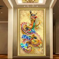 DIY 5D Sale Diamond Embroidery, Diamond Mosaic, Full, Descents of the Dragon, Diamond Painting, Cross Stitch,3D, Decoration, Gif