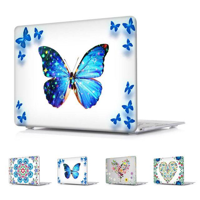 Flores amor mariposa hermosa impreso Caso Para Macbook Pro de Aire ...