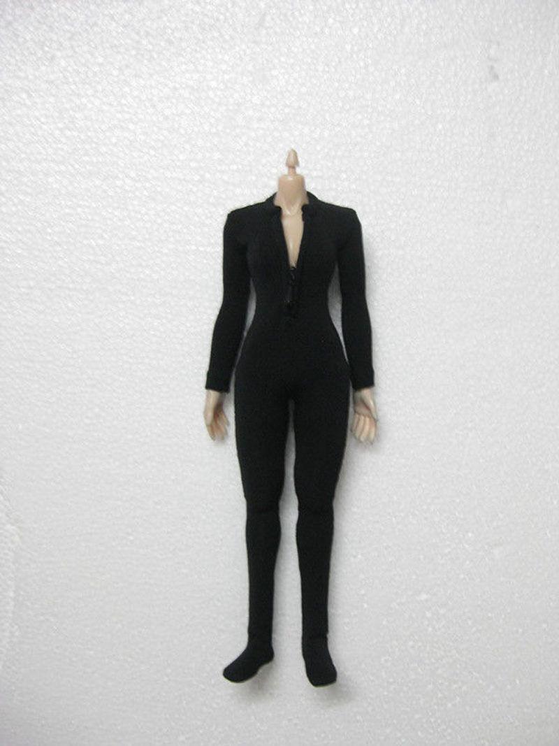 1 6 Échelle Femelle Noir Vêtements Mince serré stretch justaucorps Modèle  Jouets Pour 12