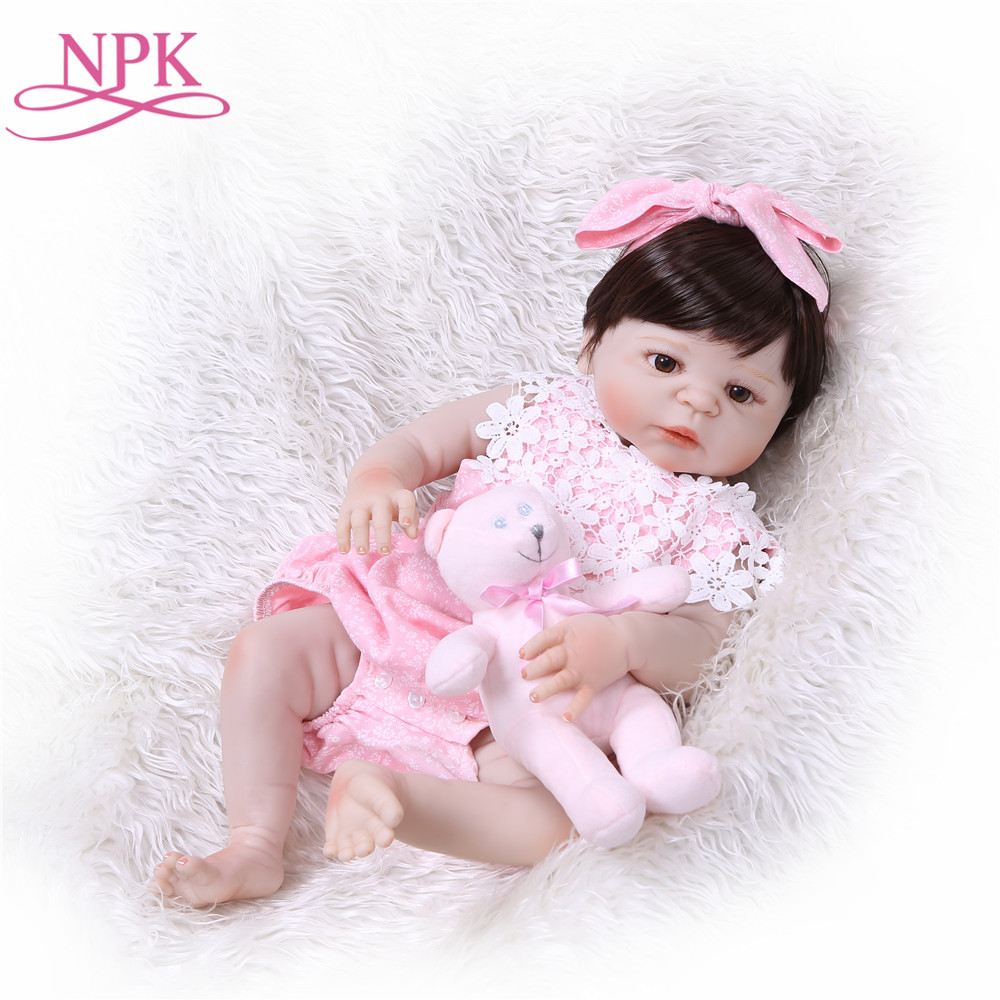 NPK reborn bonecas handmade Lifelike Reborn Baby Doll Girls Full Body Vinyl Silicone bebe alive child gift toys on birthday bebe 55cm full body silicone reborn baby girl doll toys lifelike baby reborn doll kids child birthday gift bonecas reborn