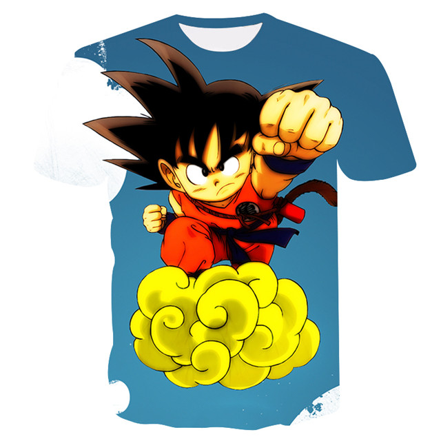 477f108df17 Dropwow 2018 New Dragon Ball Z T Shirts Men Super Saiyan Ultra ...