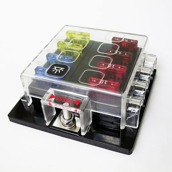 Universal Car Truck Vehicle Way Circuit Automotive Blade Fuse Box Block Holder Car Fuse Accessory