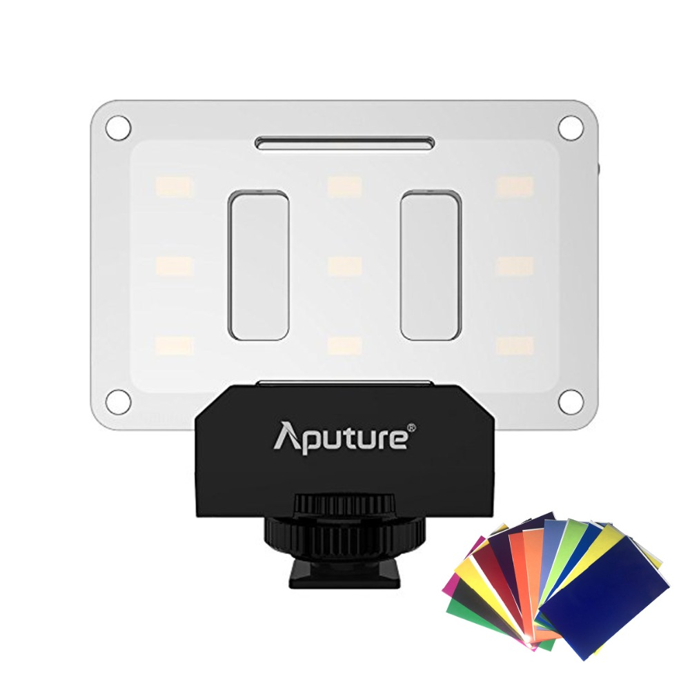 Aputure AL-M9 Pocket Mini LED Video Light TLCI/CRI 95+ On-camera Fill Light For DSLR Camera Video Light Wedding Recording aputure ls mini 20 3 light kit two mini 20d and one mini 20c led fresnel light tlci cri 96 40000lux 0 5m 3 light stand case