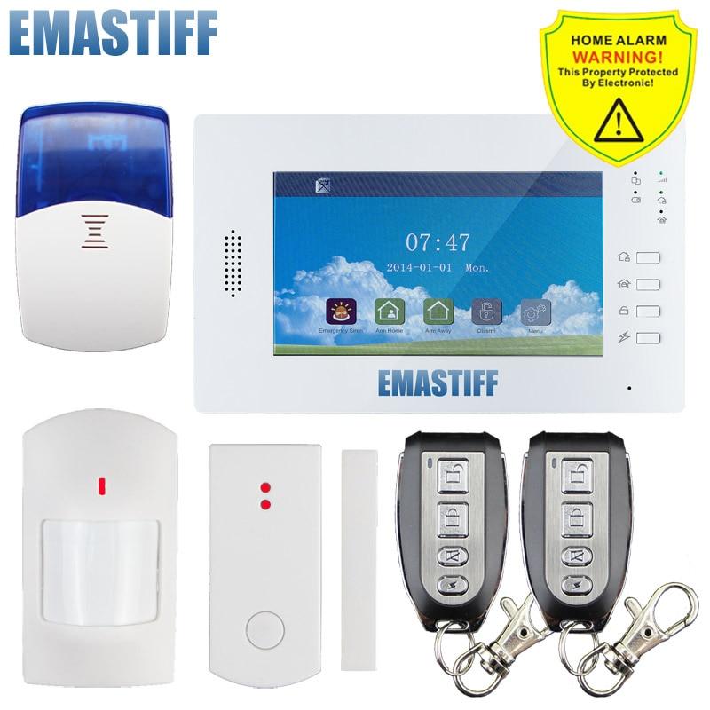 Livraison gratuite! 2015 vente chaude écran tactile gsm hôte d'alarme GSM système d'alarme de sécurité pour la maison