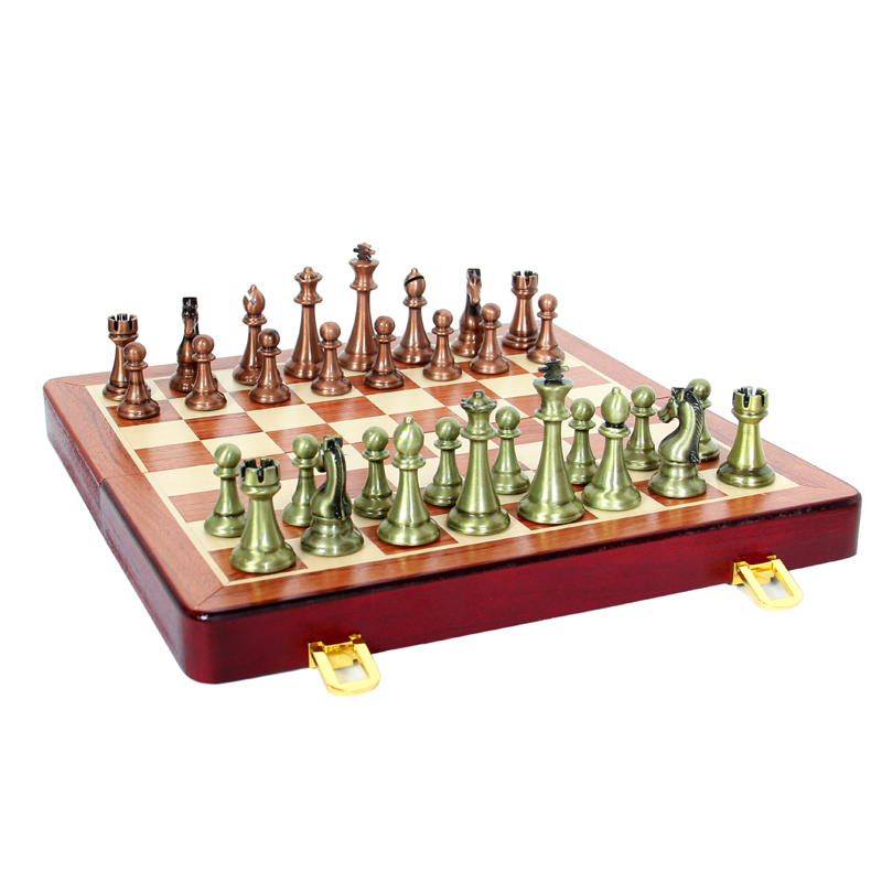 ФОТО Educational Toys Standard Folding Portable Checker Wooden Backgammon Chess set