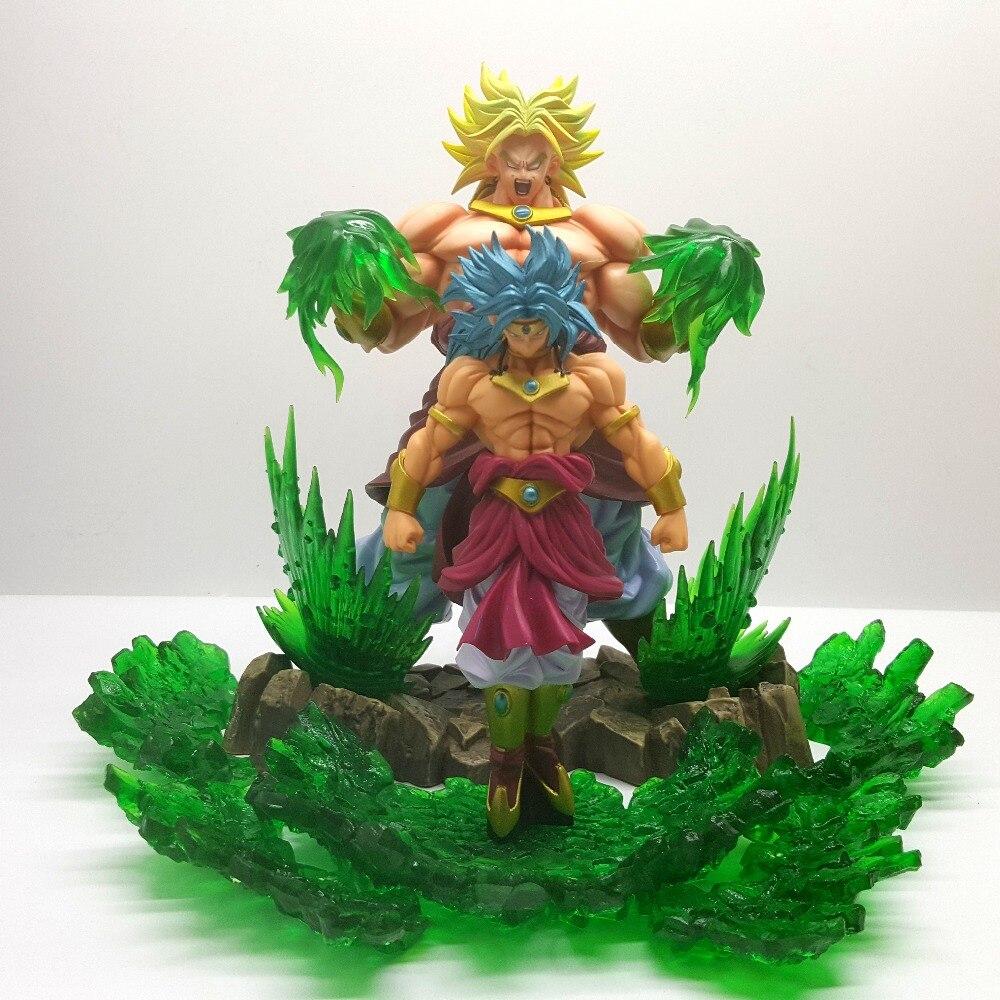 Bola de Dragón Z Broly Super Saiyan evolución PVC figuras de acción Anime Bola de Dragón Super Broly película Goku figura de juguete modelo DBZ