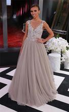 2015 wunderschöne Robe de Soiree Exquisite Spitze Appliqued Celebrity Kleider 2014 Oscars Red Teppich Kleider Formale Abendkleider