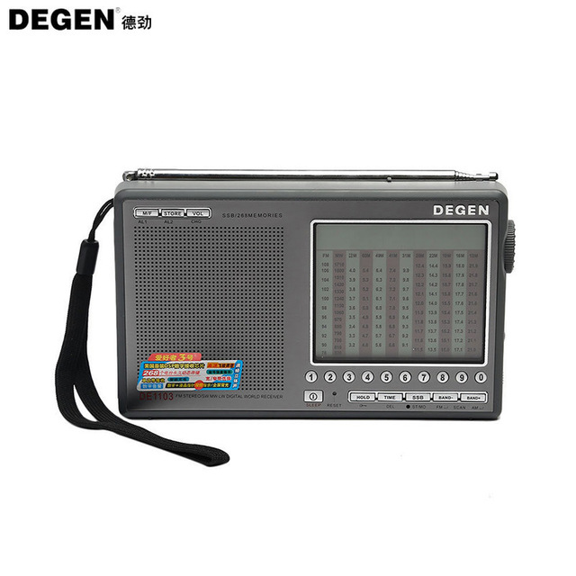 Original Degen DE1103 DSP Radio FM SW MW LW SSB Digital World Receiver External Antenna Radio