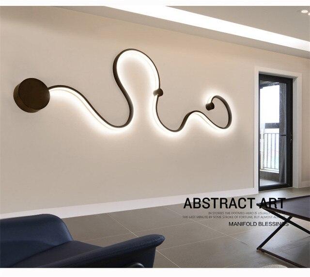 US $75.0 40% di SCONTO|Moderni Semplici Luci Da Parete A LED Disegni di  Arte Creativa Lampada Da Parete Apparecchio di Illuminazione Creativa per  ...